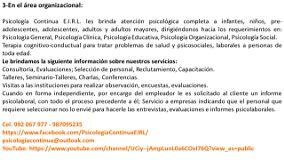 Psicología Continua E.I.R.L. Callao